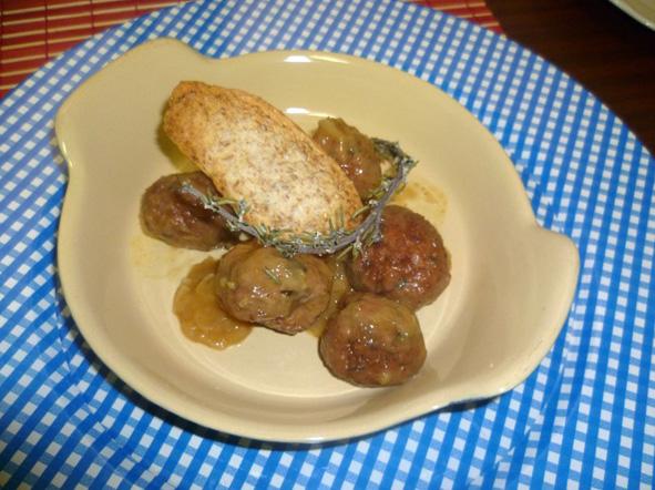 Albondigas de carne picada mezclada con berenjenas - Guarnicion para albondigas ...