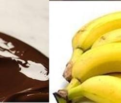 crema de platanos con chocolate