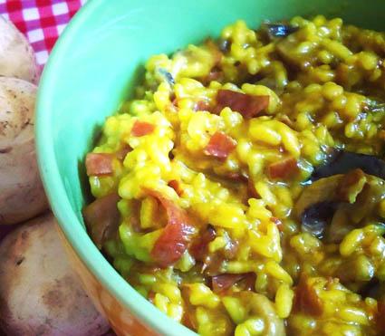 risotto-de-champignon-y-jamon