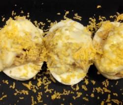 Huevos rellenos con falsa mousse