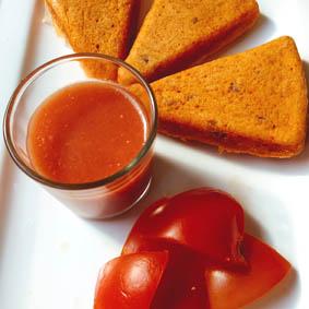 Bizcocho de gazpacho
