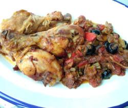 Pollo a la mediterranea