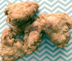 Alitas de pollo rebozadas